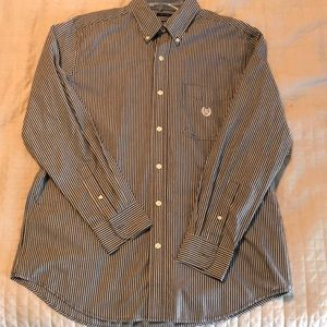 Men's Gray striped Button-up